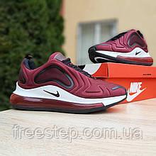Кросівки чоловічі в стилі Nike Air Max 720 бордові