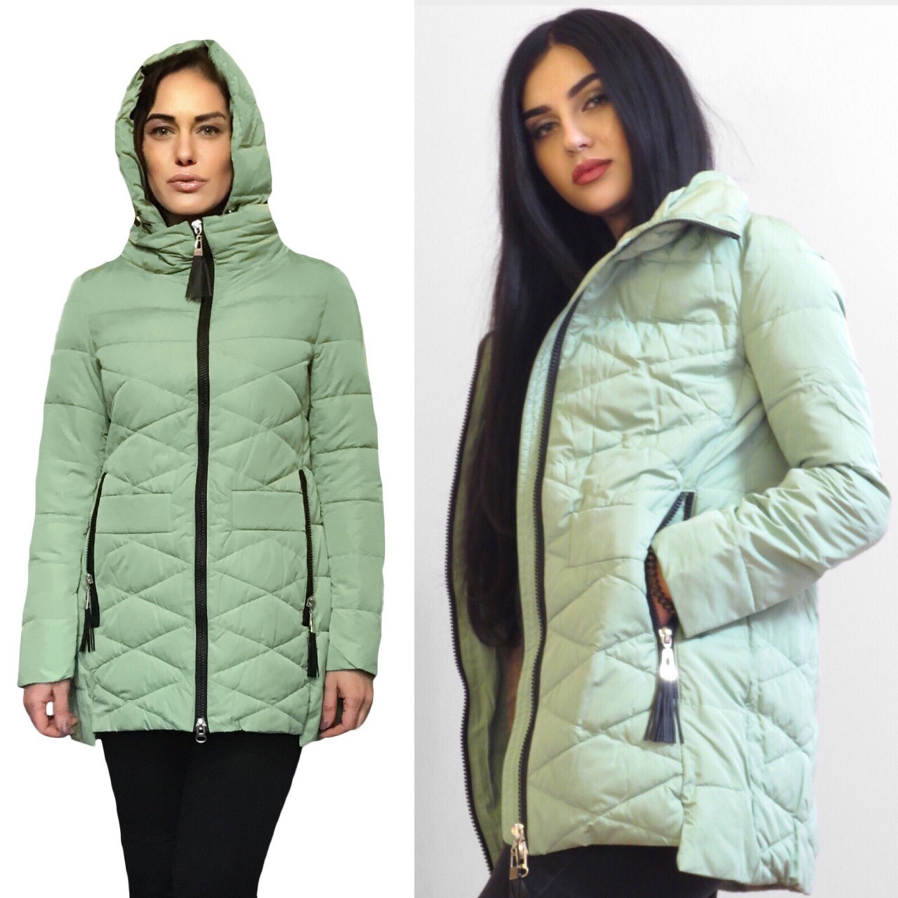Куртки Женские Демисезонные Утепленные . Фабричный Китай Размеры 42-46 в наличии
