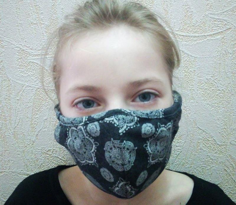 Двошарова захисна кольорова маска для підлітків
