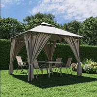 Павильон садовый 3м х 3м с плотной и долговечной ткани полиэстер, стальной каркас