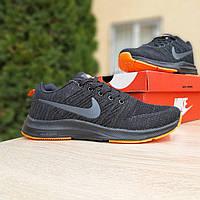Мужские  кроссовки    Zoom чёрные с оранжевым, фото 1