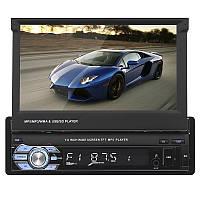 Автомагнитола 7'' Lesko 9601B 1 DIN выдвижной экран USB просмотр видео 55 Вт + ПОДАРОК