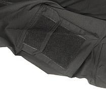 Тактическая рубашка Lesko A655 Black XL (36 р.) мужская милитари с длинным рукавом камуфляж армейская убакс, фото 2
