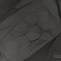 Тактическая рубашка Lesko A655 Black XL (36 р.) мужская милитари с длинным рукавом камуфляж армейская убакс, фото 3