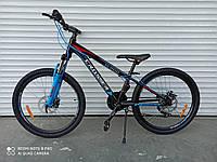 """Горный велосипед Crosser XC-200 24"""" алюмин, рама 11,8"""" быстрый съем колес, комплектация Shimano, собран в коро"""