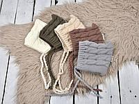 "Весняна в'язана шапочка ""Коси"" (одяг трикотаж) 0-3 міс, кольори в асортименті, фото 1"