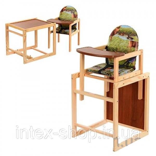 Детский деревянный стульчик для кормления M V-001-5
