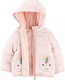 Детская зимняя курточка на утеплителе Единороги Картерс для девочки, фото 2