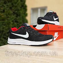 Чоловічі кросівки в стилі Nike Zoom чорні з червоним