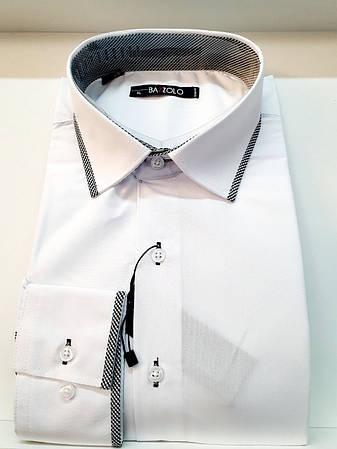 Однотонная  рубашка Bazzolo -1290, фото 2
