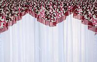 Ламбрекен №89 из плотной ткани на карниз 2,5-3м.  Код: 089л073(Б)