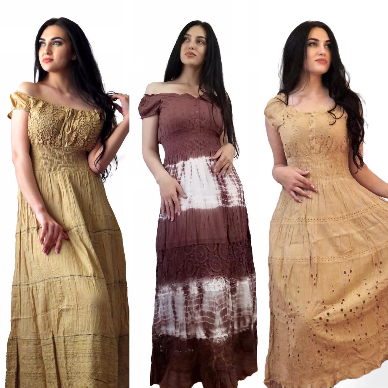 Воздушные Хлопковые Платья и Сарафаны. Производство Индия.  100% хлопок. Размеры: 48-60
