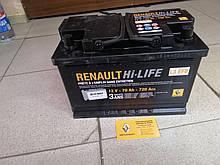 Аккумулятор L3 EFB 12V 70Ah 720 Aen Renault  Capture (Original 7711575175)