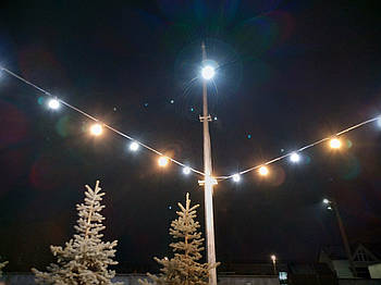 Уличная Ретро Гирлянды Belt Light из LED Ламп Е27 ➔ 4 шт/м, 5W