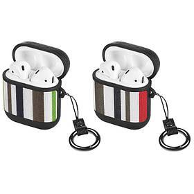 HOCO Ткань + кожа Противоударный пылезащитный Наушник Хранение Чехол с Крюк для Apple Airpods 1 Airpods 2-1TopShop
