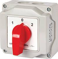 Пакетний перемикач LK16/3.323-ОВ/45 в корпусі, 3p, 1-0-2, 16А, IP44