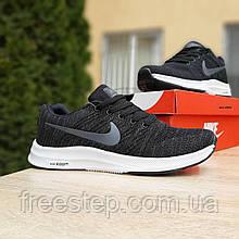 Чоловічі кросівки в стилі Nike Zoom чорні на білому