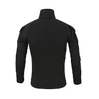 Тактическая рубашка Lesko A655 Black 2XL (38 р.) кофта с длинным рукавом камуфляжная армейская для военных, фото 3
