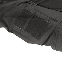 Тактическая рубашка Lesko A655 Black 2XL (38 р.) кофта с длинным рукавом камуфляжная армейская для военных, фото 4