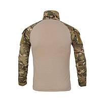 Тактическая рубашка Lesko A655 Camouflage XL (36 р.) кофта с длинным рукавом камуфляжная армейская убокс, фото 2