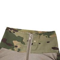 Тактическая рубашка Lesko A655 Camouflage XL (36 р.) кофта с длинным рукавом камуфляжная армейская убокс, фото 3