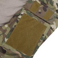 Тактическая рубашка Lesko A655 Camouflage XL (36 р.) кофта с длинным рукавом камуфляжная армейская убокс, фото 7