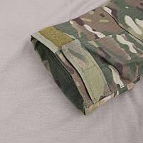 Тактическая рубашка Lesko A655 Camouflage XL (36 р.) кофта с длинным рукавом камуфляжная армейская убокс, фото 9