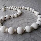 "Бусы ""Белый пористый коралл, фото 7"