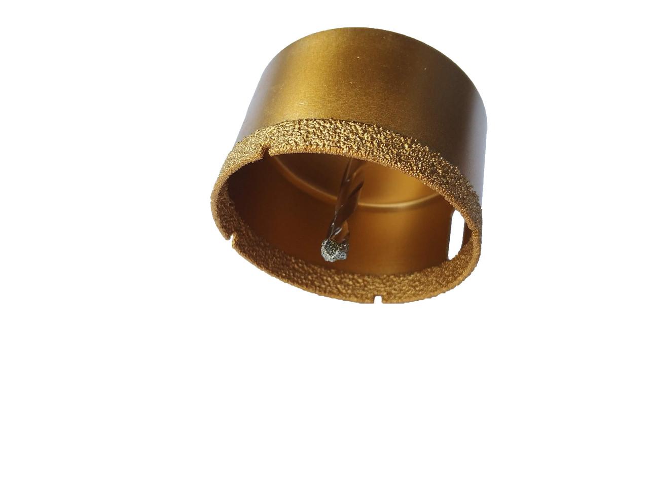 Коронка алмазна вакумна Craft 70мм з тригранним хвостовиком і направляючим свердлом - кахель скло керамогранит