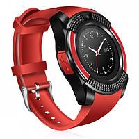 Сенсорні Smart Watch V8 смарт годинник розумні годинник ЧЕРВОНІ