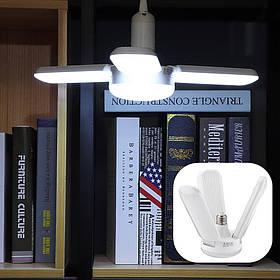 AC175-265V E27 48W Pure White Angle Регулируемая 3 + 1 складная 120LED лампа потолочного освещения Крытый гараж Лампа-1TopShop