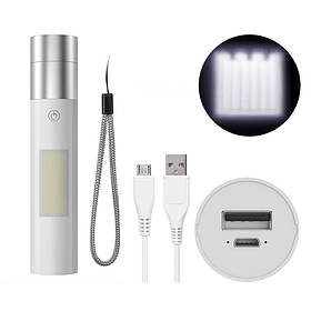 MentchX7T6/XPE15W 4Режимs Масштабируемый перезаряжаемый USB USB Водонепроницаемы Мини LED Фонарик 18650 Фонарик с боковой Лампа-1TopShop
