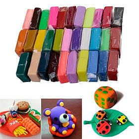 32 цвета полимерной глины fimo блок литья sculpey diy игрушки 5 инструменты моделирования-1TopShop