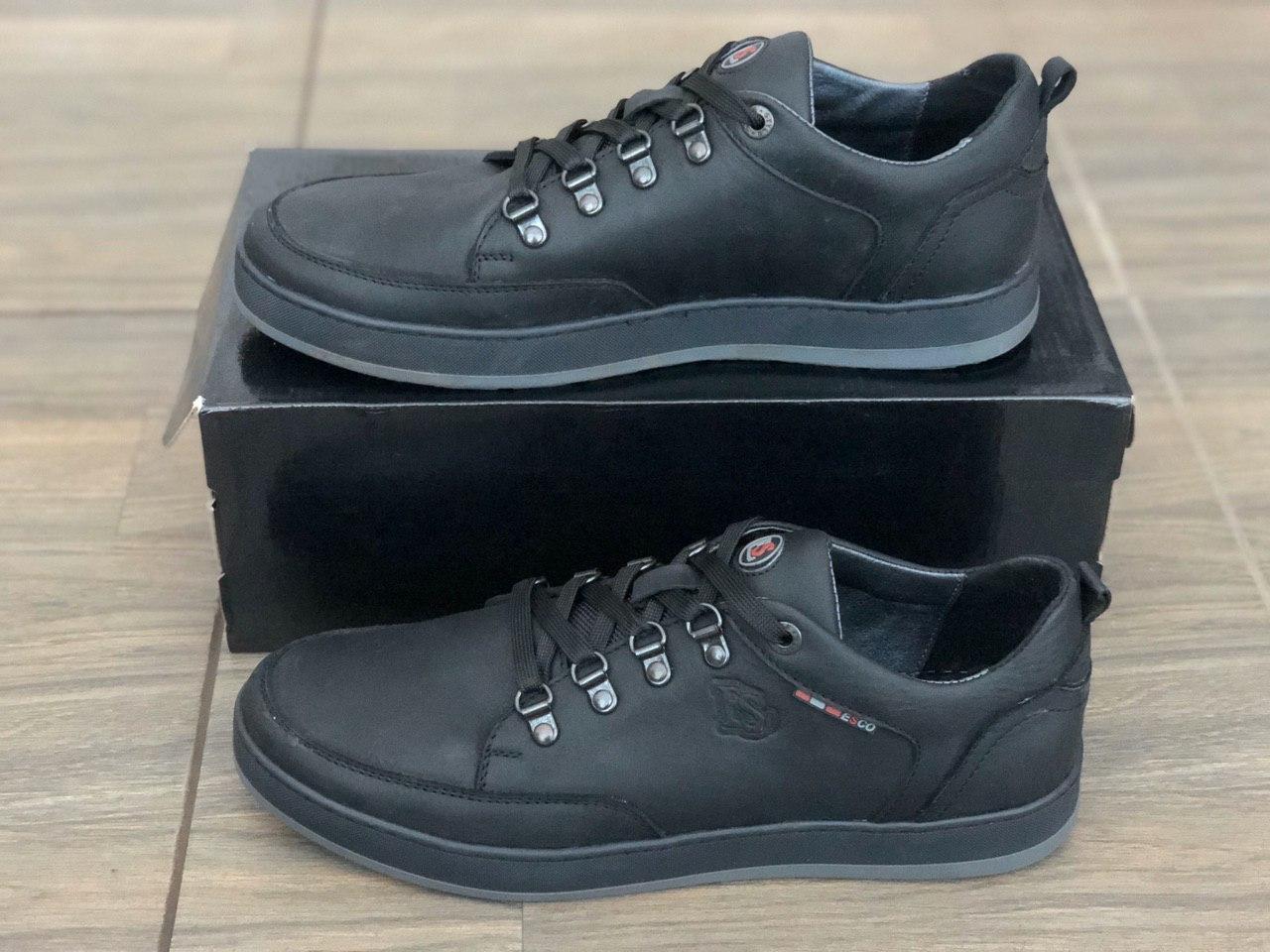 Кросівки чоловічі шкіряні Esco 830ч розміри 40,43,45