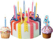 Свечи праздничные для торта