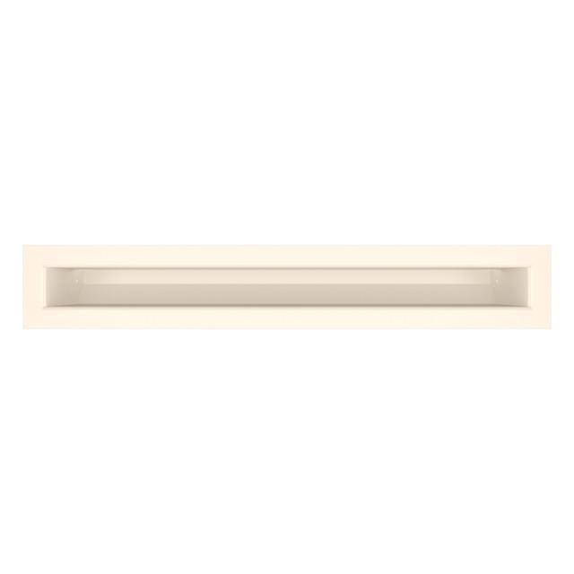 Вентиляционная решетка для камина SAVEN Loft 60х400 кремовая