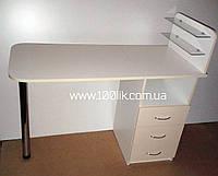 """Маникюрный столик с ящиками трансформер """"Инна""""."""