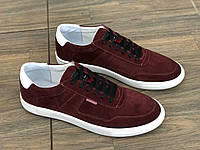 Кроссовки кожаные + кожа замша мужские BRAVE 118 бор размеры 40,43,44, фото 1