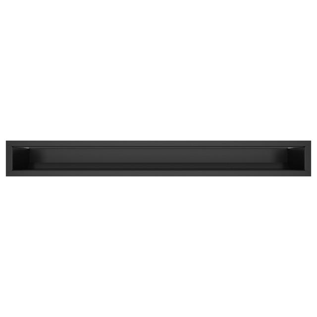 Вентиляционная решетка для камина SAVEN Loft 90х800 черная