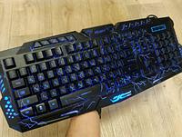 Игровая русская клавиатура с трехцветной подсветкой Gamer wireo М200L Razer