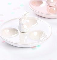 Блюдо, подставка для яиц Белый Кролик 947-031