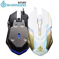 """Комп'ютерна USB Миша S150 зі світлодіодним світлом 2400 dpi, ігрова мишка """"SHIPADOO"""""""