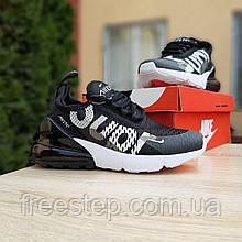Чоловічі кросівки в стилі NIKE Air Max 270 Supreme чорні c білим