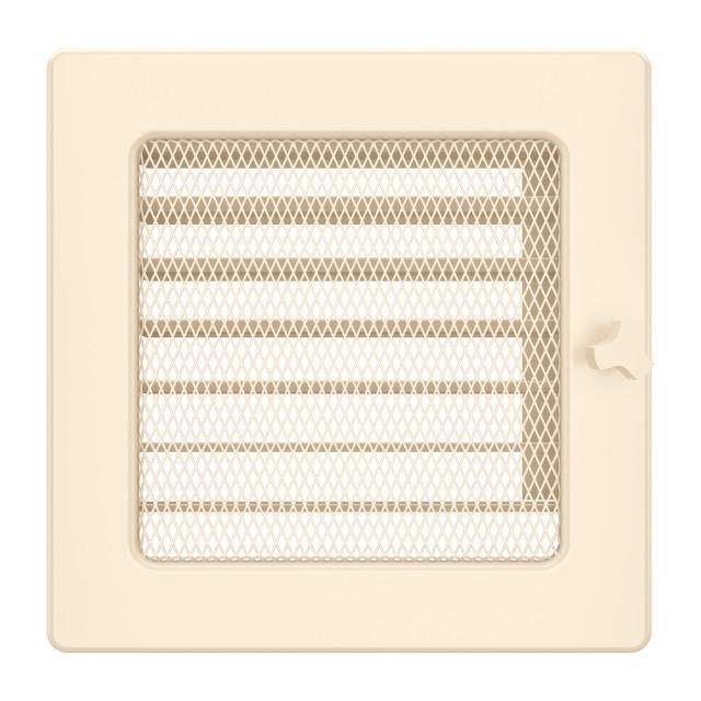 Вентиляционная решетка для камина SAVEN 17х17 кремовая с жалюзи