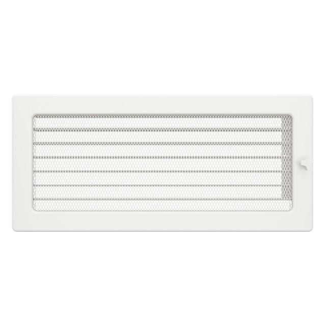 Вентиляционная решетка для камина SAVEN 17х37 белая с жалюзи