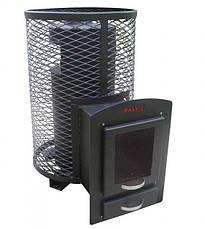Банная печь-камин KALVIS-PR-3S c выносной топкой со стеклом, фото 2