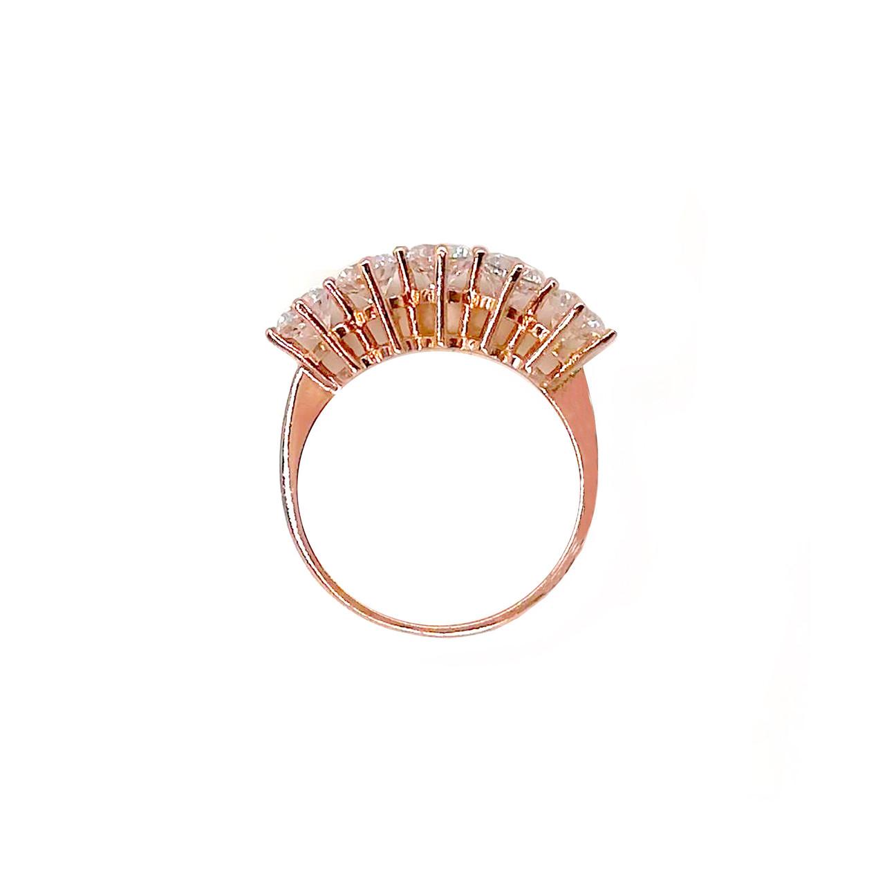 Кольцо Xuping из медицинского золота, прозрачные фианиты, позолота 18К, 11776       (19)