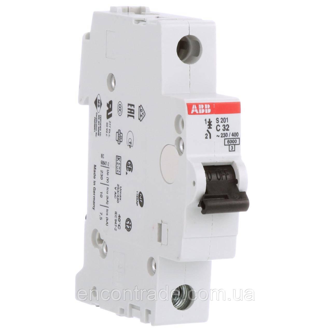 2CDS251001R0064  Автоматичний вимикач ABB S201-C6