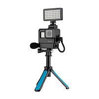 TELESIN GP-VSS-001 Защитная рамка Чехол Микрофон 6500K Видеолампа Vlog Набор Набор для GoPro Hero 7 6 5 Black Action камера-1TopShop