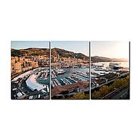"Модульная картина на холсте ""Монте-Карло"" 190х90см, фото 1"